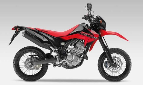 Honda CRF250M Supermoto red