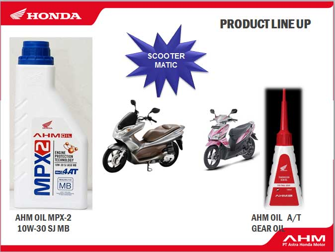 AHM Oil MPX2 dan AHM Gear Oil