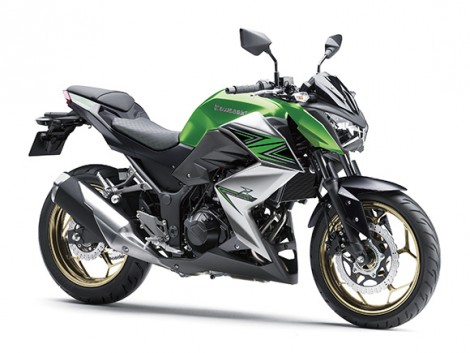 Kawasaki Z250 ABS Candy Flat Blazed Green  Metallic Graphite Gray  Special Edition pertamax7.com front rigth