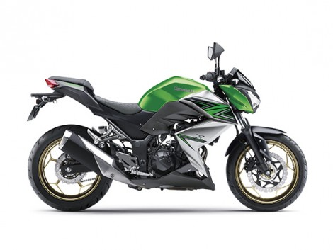 Kawasaki Z250 ABS Candy Flat Blazed Green  Metallic Graphite Gray  Special Edition pertamax7.com right side