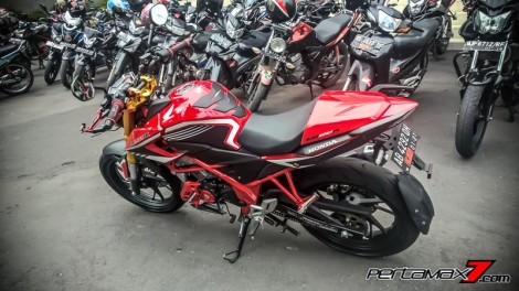 Modifikasi All New Honda CB150R Pakai Fork Upside Down