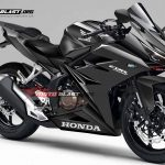 Render Honda CBR250RR all hitam