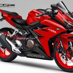 Render Honda CBR250RR all red