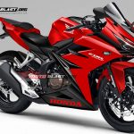 Render Honda CBR250RR red