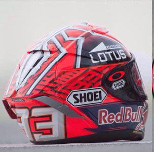 corak baru helm shoei marc marquez motogp 2016. Black Bedroom Furniture Sets. Home Design Ideas