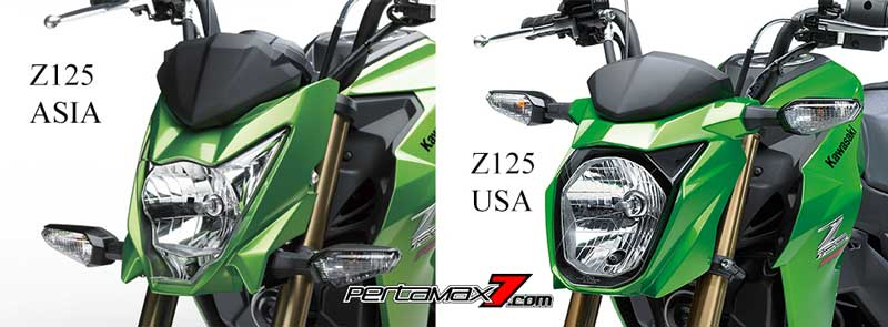 headlamp kawasaki Z125 ASIA Vs Z125 USA pertamax7.com