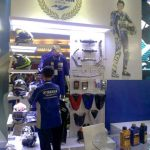 Apparel & accessories corner Yamaha di Indonesia International Motor Show (IIMS) 2016 pertamax7.com