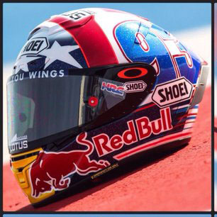 nih helm shoei marc marquez special austin motogp america. Black Bedroom Furniture Sets. Home Design Ideas