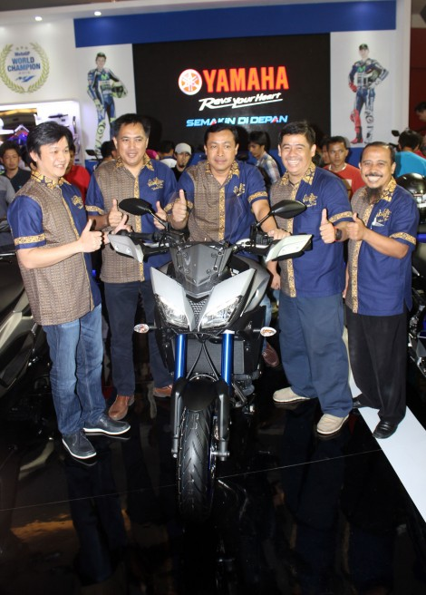 Launching Management PT Yamaha Indonesia Motor Manufacturing (YIMM) dalam peluncuran MT-09 Tracer di event Indonesia International Motor Show (IIMS) 2016 Pertamax7.com