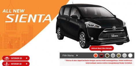 Toyota Sienta Warna altitude black mica metallic