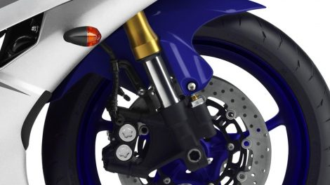 USD Cornering Yamaha R6 Race Blue 2016
