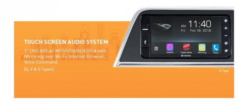 touch screen audio system Toyota Sienta Q V G