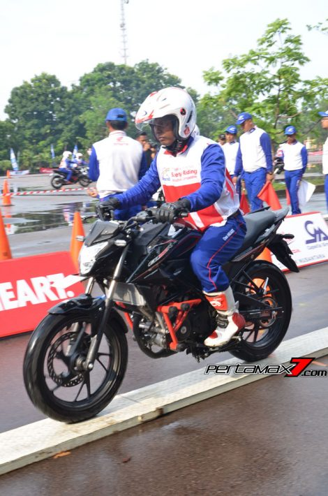 Hari Pertama The 10th Astra Honda Safety Riding Batam Test Braking dan Narrow Plank 5 Pertamax7.com