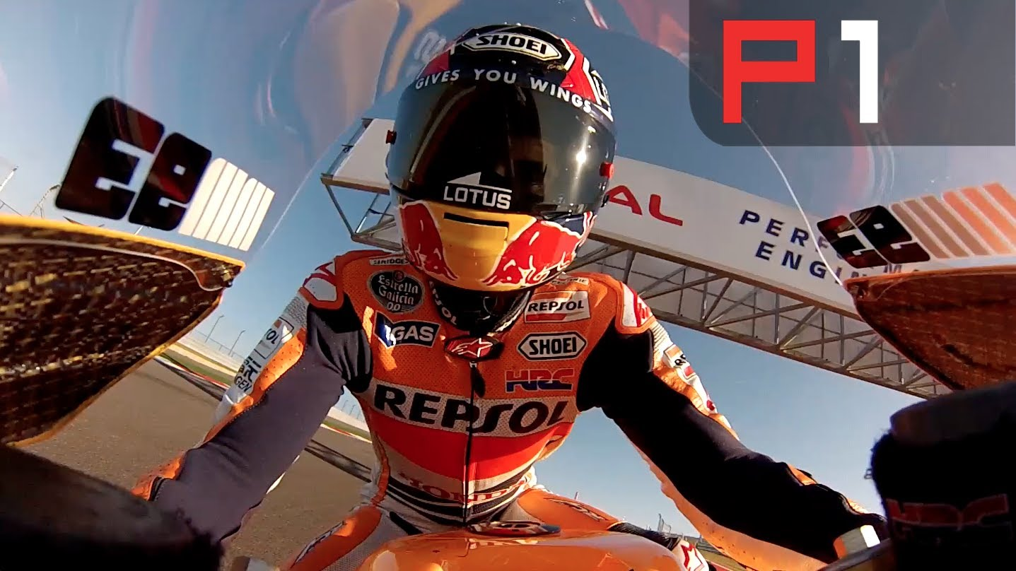 On Board Marc Marquez Shoei Honda RC213V pertamax7.com