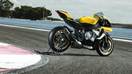 All New Yamaha R1 60th Anniversary Edition warna Kuning