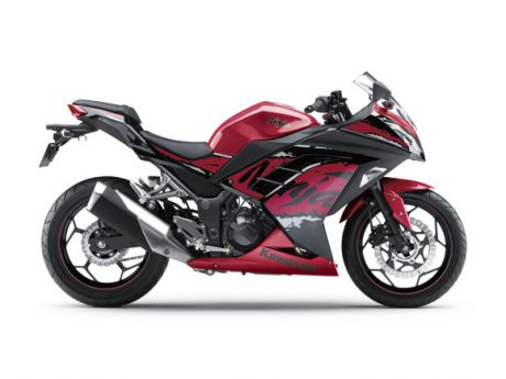 Kawasaki Ninja 250 FI Striping 2017 Candy Persimmon Red Metallic Spark Black (Special Edition) 17_EX250M_RD3_RS Pertamax7.com
