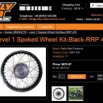 Level 1 Spoked Wheeld Kit Black RRP 476 All New Honda CB500X Rally raid pertamax7.com
