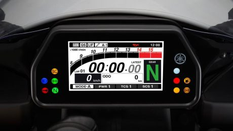 Speedometer All New Yamaha R1 mode race balap Pertamax7.com