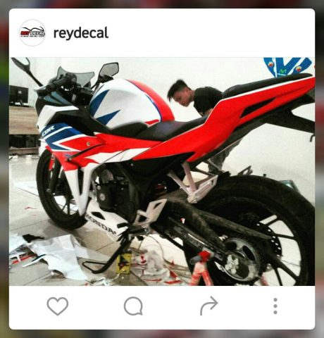 All new Honda CBR150R 2016 Warna merah Putih Biru Decal pertamax7.com