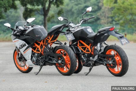 KTM DUKE 250 VS KTM RC250 Pertamax7.com