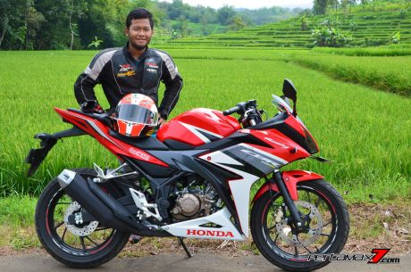 all new honda CBR150R Racing red AHRT pertamax7.com