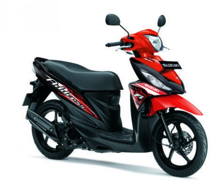 Suzuki Address Striping baru 2016 warna Merah Stronger Red pertamax7.com