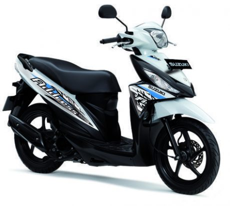Suzuki Address Striping baru 2016 warna Putih Biru Brilliant White and Titan Black pertamax7.com