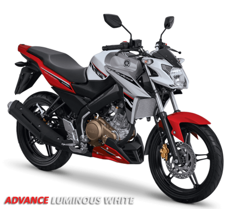 Yamaha New Vixion Advance Warna merah putih advance luminous white pertamax7.com