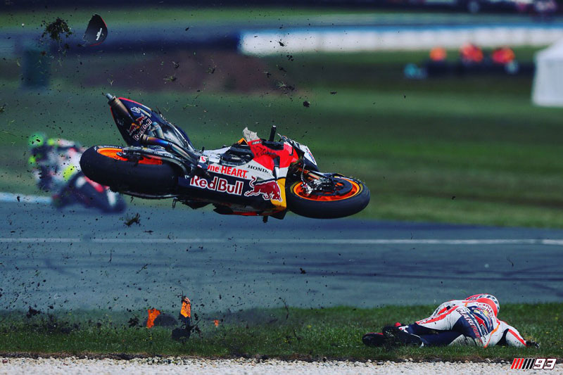 marquez Crash GP philip island 2016