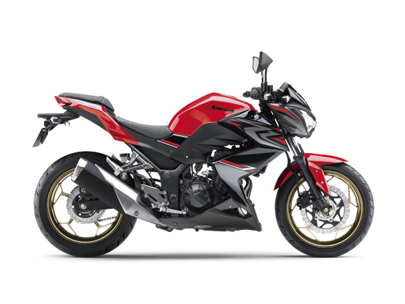 2017 Kawasaki Z250 warna Passion Red / Metallic Spark Black (Special Edition)