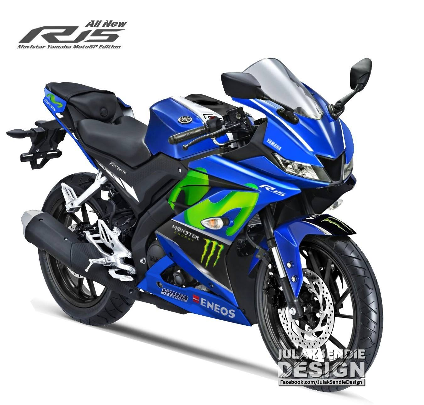 All New Yamaha R15 Livery Movistar MotoGP