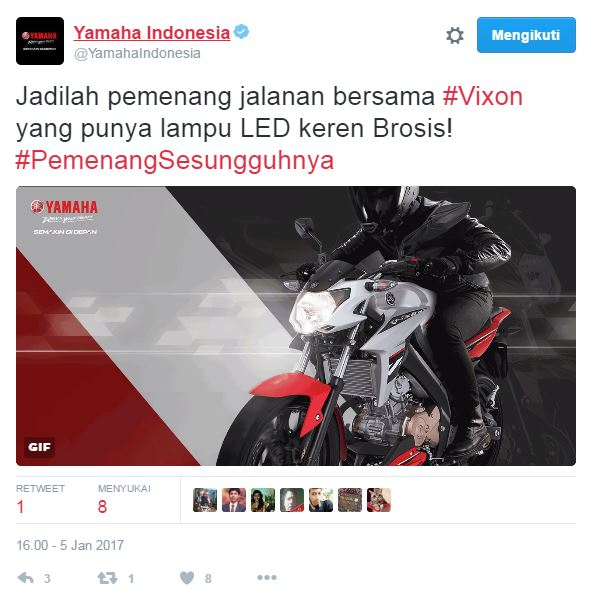 Headlamp yamaha New Vixion Advance LED