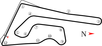 Buriram Sircuit map