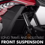 Long Travel and adjustable Front Suspension Honda CB500X