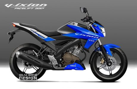 Render Yamaha All New Vixion 155 VVA Warna Biru