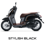 Honda Scoopy 12 inchi stylish black scoopy new 2017 trans