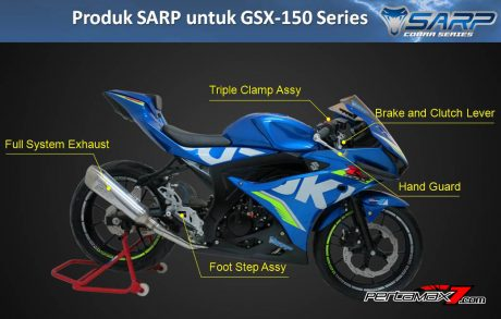 Produk SARP Cobra Series Parts racing Suzuki GSX-R150