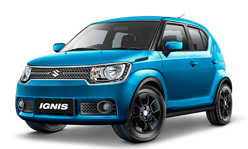 Suzuki Ignis warna Biru TINSEL BLUE PEARL Indonesia