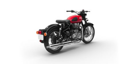 Warna Royal Enfield Redditch merah