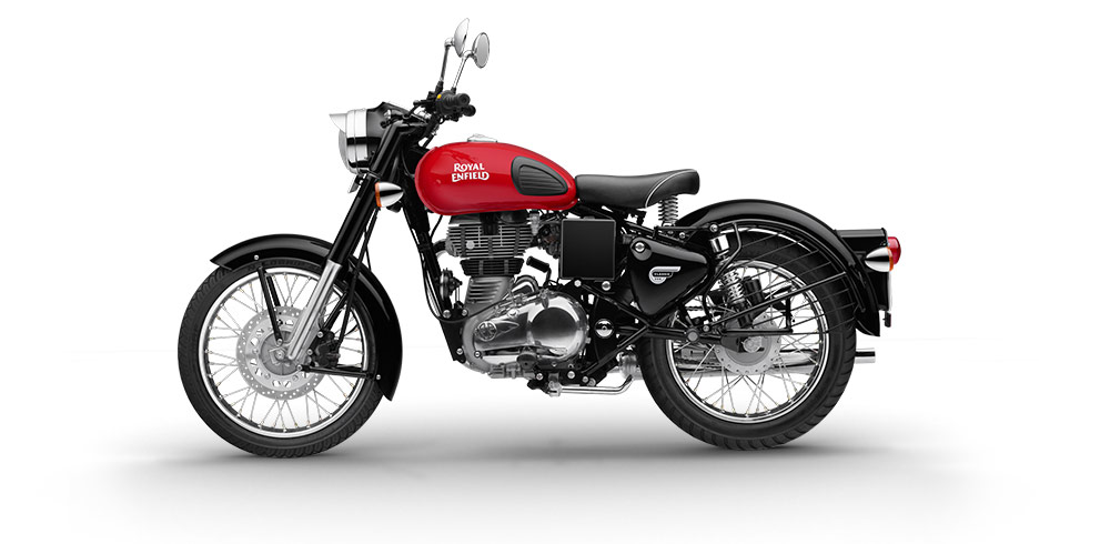 Warna Royal Enfield Redditch red female