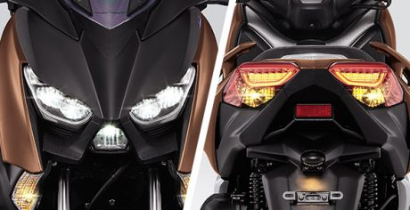 Headlamp dan stoplamp LED Yamaha XMAX 250