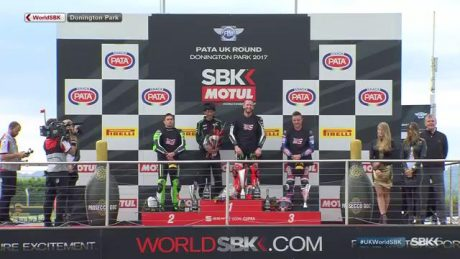 Podium Race 1 WSBK UK tribute Nicky Hayden 69