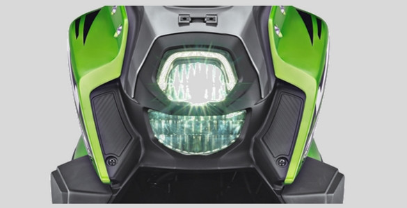 Headlamp LED dan DRL Yamaha All new X-Ride 125