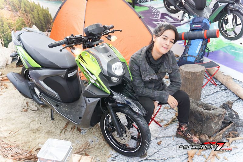 Sabrina Sameh dan Yamaha All new X-Ride 125