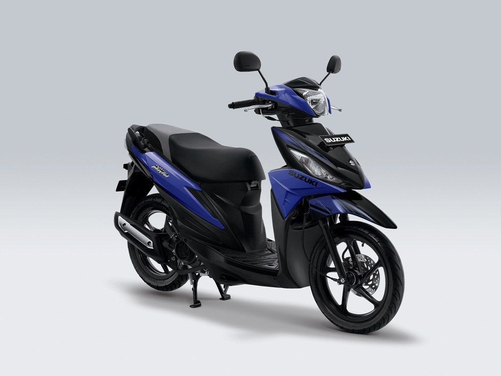 Suzuki Address Playful Warna Macho bright blue