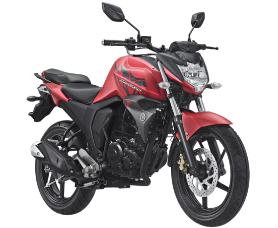 Yamaha All New Byson FI Facelift 2017 Warna Merah Doff Matte Red