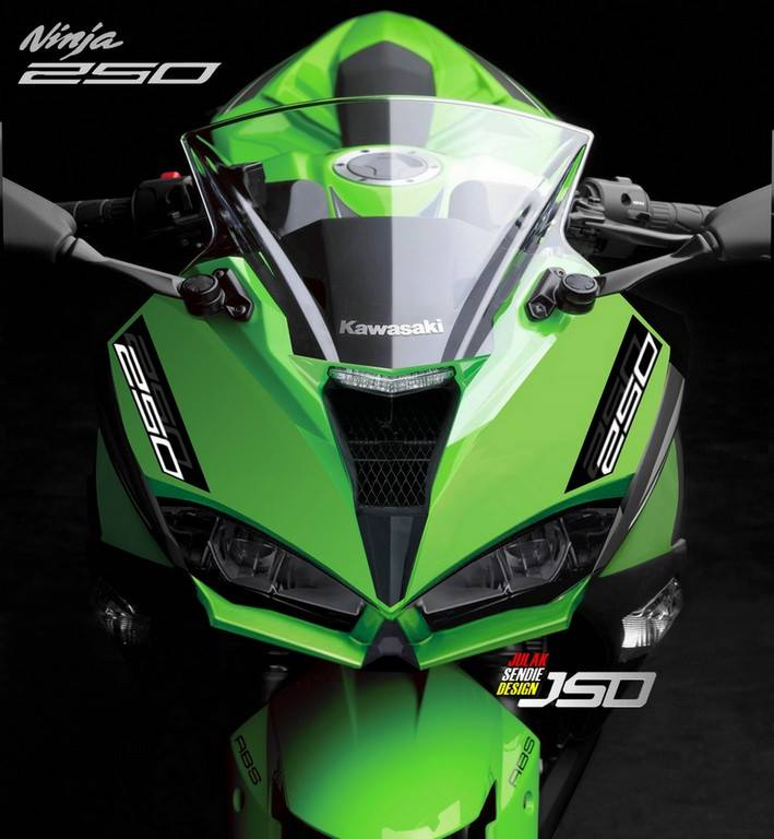 All new Kawasaki Ninja 250 FI Facelift ala Julak Sendie Design