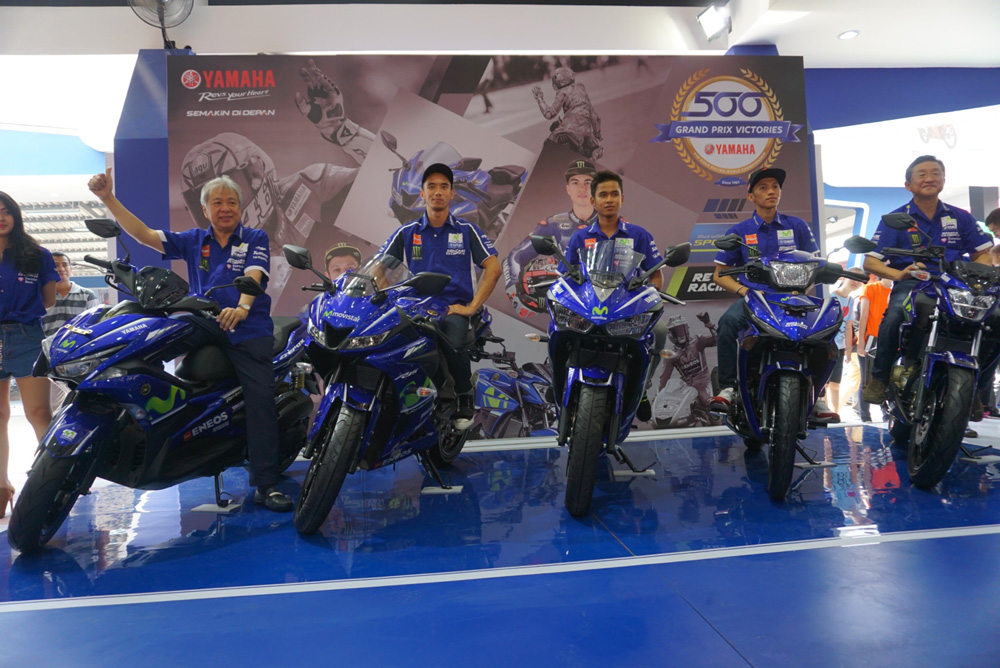 Pebalap Yamaha Racing Indonesia Launching Motor Yamaha livery Movistar MotoGP 2017