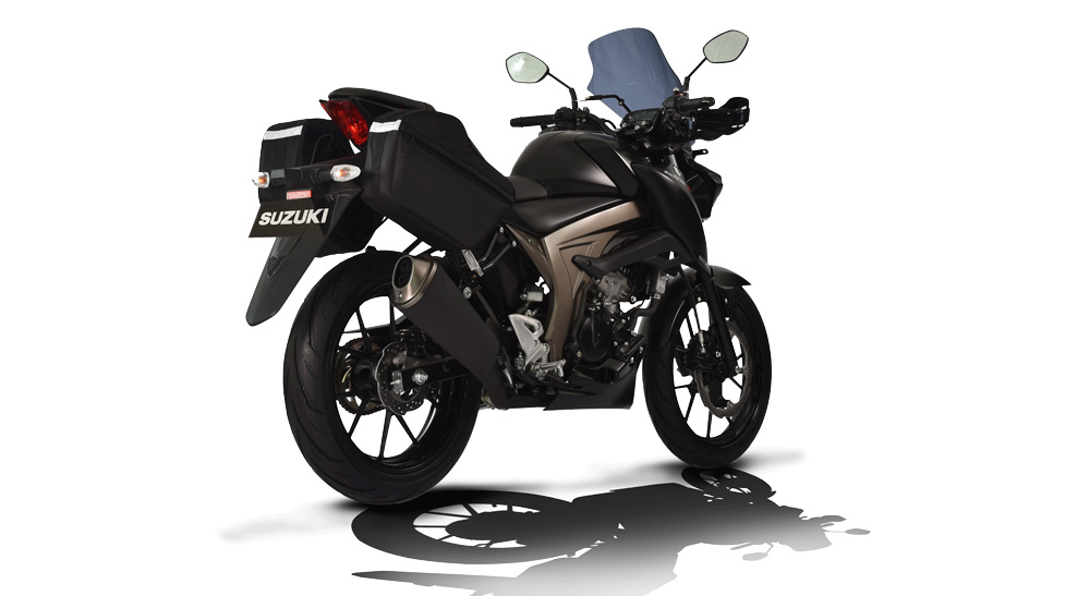 Suzuki GSX-S150 Touring Edition Warna Black Matt Dof
