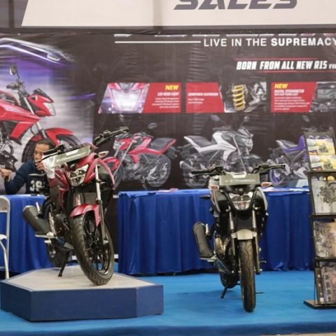 All New Vixion & All New Vixion R di sales booth